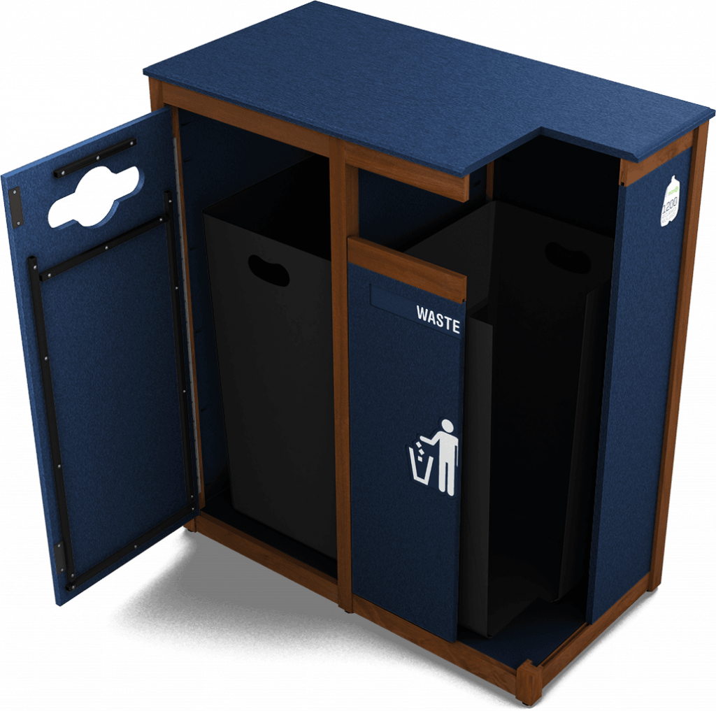Tuscany Collection Waste & Recycling Bin | cutaway